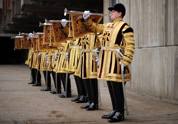 State Trumpeters play military music style