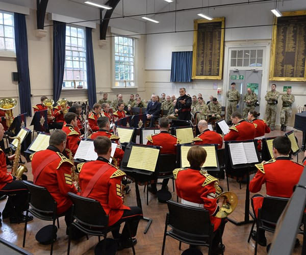 Musicians playing at Kneller Hall, Armed services music training