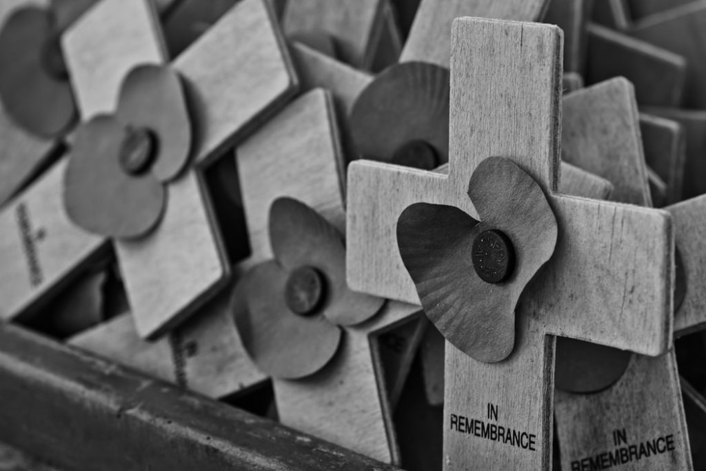 Crosses and Poppies for Remembrance - British Army Band Reshuffle