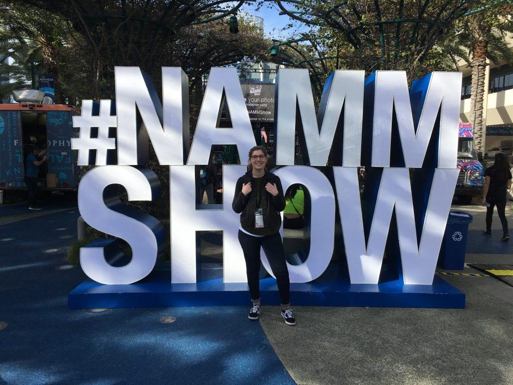 Hannah at The NAMM Show 2020
