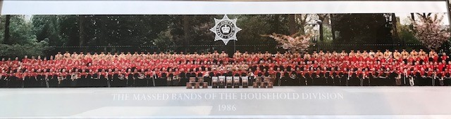 Massed Bands of the Household Division 1986 (photo property of Clive Reeves)