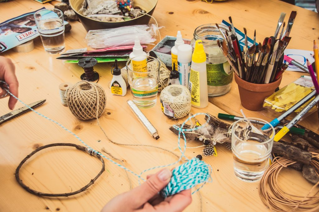 making DIY crafts from musical instruments