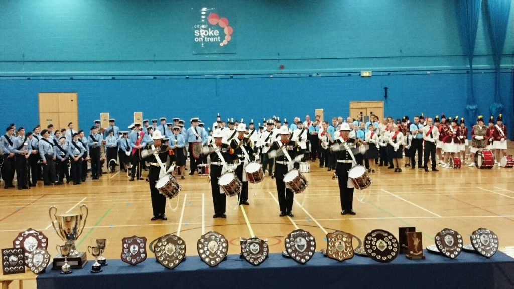 The Royal Marines performing for bands at the TYMBA National Competition