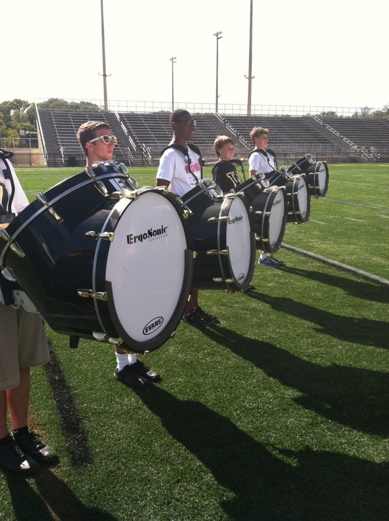 ErgoSonic Bass Drum Set in rehearsal