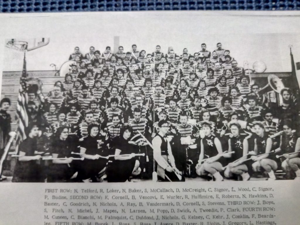 Rex and his Father's High School Band in 1962 (photograph property of Rex Jamieson)