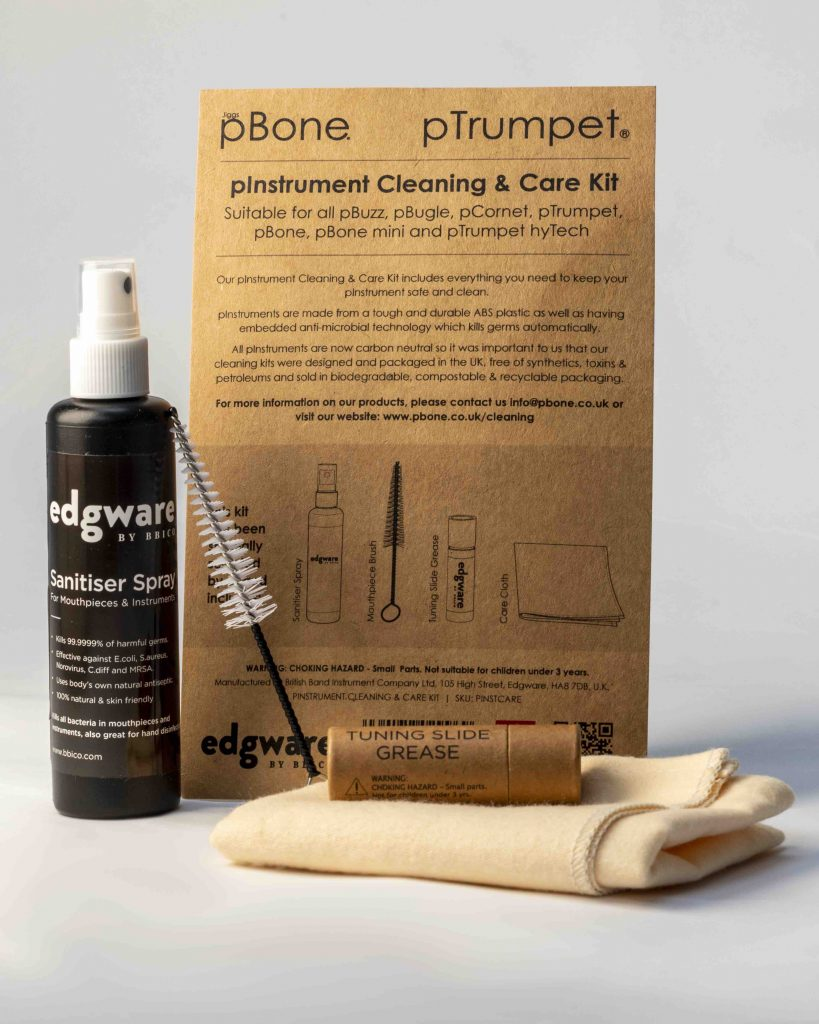 The pInstrument Cleaning & Care Kit [photo property of Warwick Music Group]