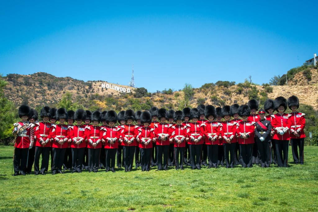 The Honourable Artillery Company Band in Hollywood