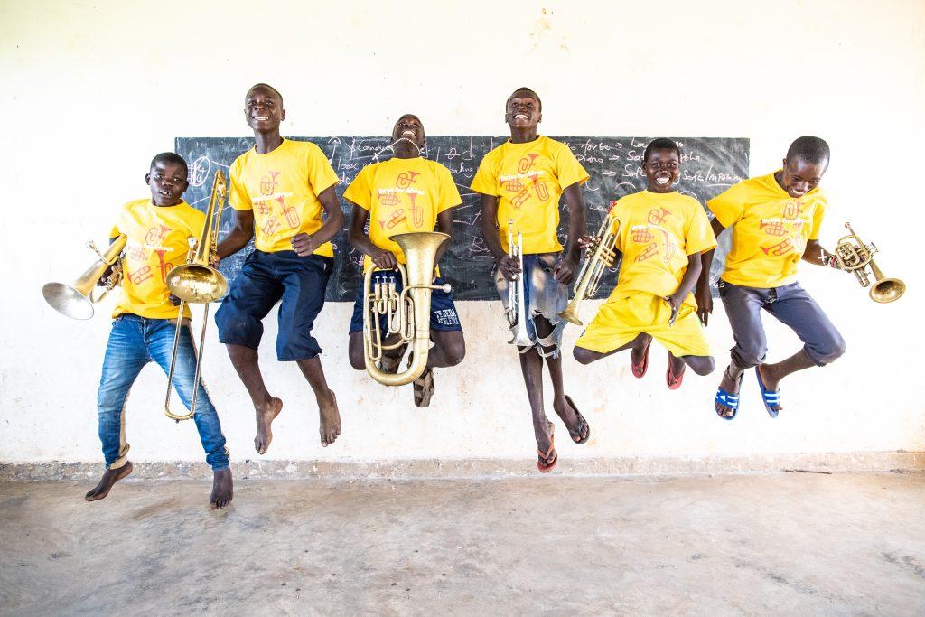 Brass for Africa Musicians [photograph property of Jim Trott]