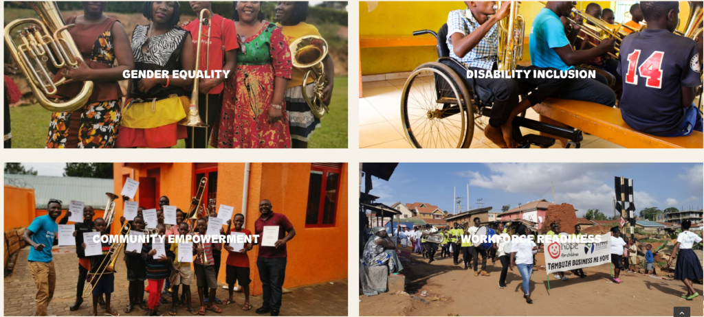 Brass for Africa's 4 Key Pillar which structure their Education Programme